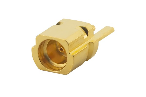 MMCX Straight PCB Edge Mount/End Launch, Jack, Gold, 50Ω