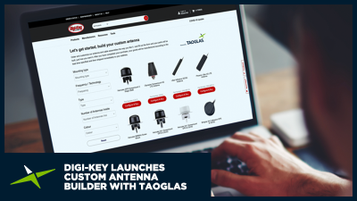 Image for Digi-Key Electronics Launches Industry-First Custom Antenna Builder with Taoglas