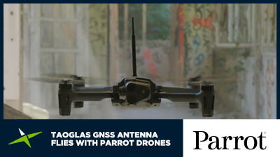 Image for Case Study: Taoglas GNSS antenna flies with Parrot drones