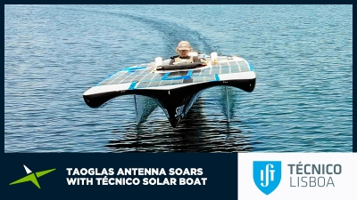 Image for Case Study: Taoglas antenna soars with Técnico solar boat